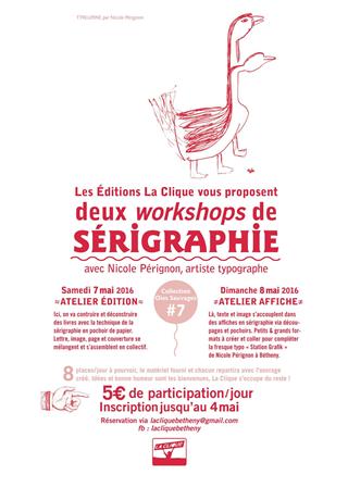 Workshop de sérigraphie - Oies Sauvages #7