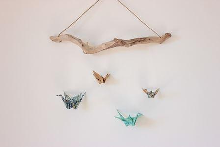 Mobiles et guirlandes en origami