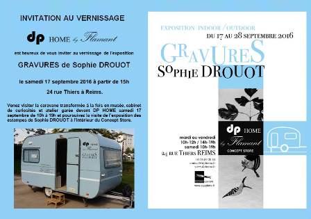 Exposition indoor/outdoor : gravures de Sophie Drouot