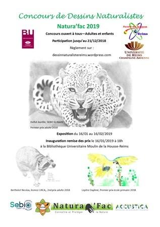 Concours de Dessins Naturalistes Natura'fac 2019