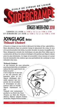Stage Jonglage Bolas par Thibault Chabert