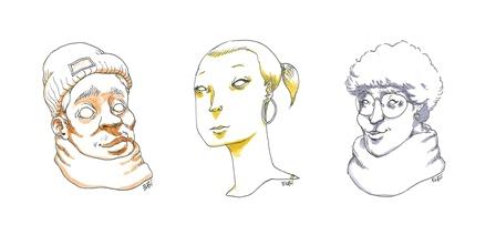 « Dessiner des visages en encrage direct » avec ELBI