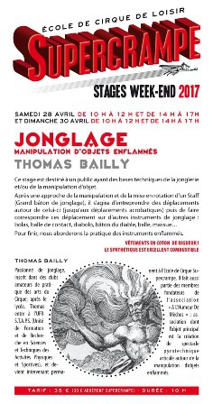 Stage jonglage objets enflammés - Thomas Bailly