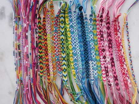 Bracelets en laine