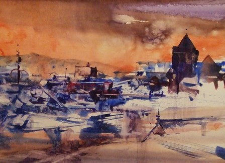 Aquarelles vernies de Claude Carretta
