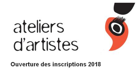 """""""Ateliers d'artistes"""" / inscriptions pour 2018"""