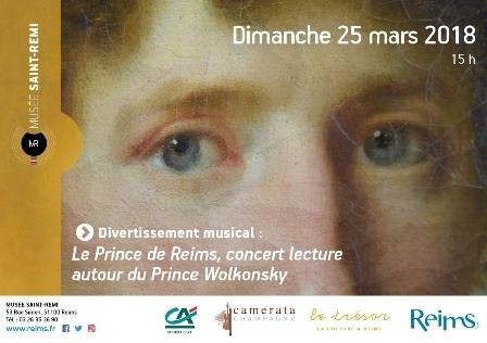 Le Prince de Reims, concert lecture autour du prince Wolkonsky
