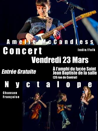 Concert Amelie McCandless + Nyctalope