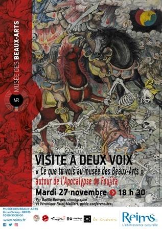 """"""" Ce que tu vois """"au musée des Beaux-Arts autour de l'Apocalypse"""