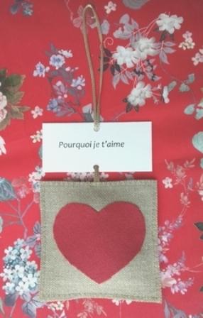 Atelier couture -  Cœur messager