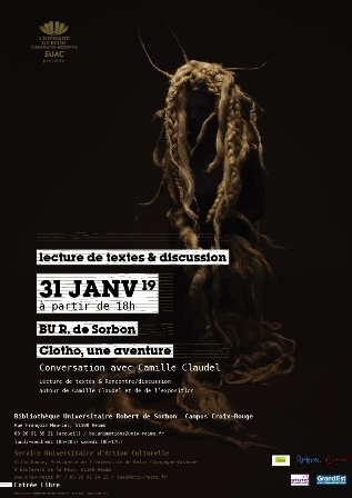«Clotho, une aventure – conversation avec Camille Claudel »