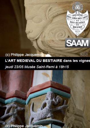 L'art médiéval du bestiaire dans les vignes : Reims et les possessions ecclésiastiques rémoises.