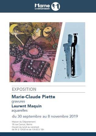 Marie-Claude Piette gravures - Laurent Maquin aquarelles