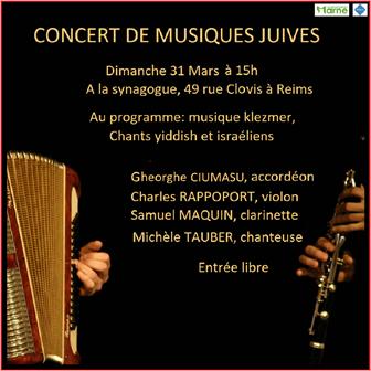 Concert de musiques juives