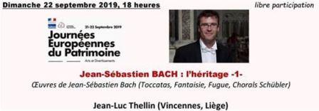 Concert Jean-Luc Thellin : Jean-Sébastien BACH (1685-1750) : l'héritage -1-