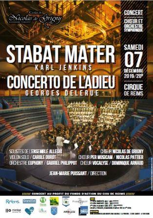 """Stabat Mater de Karl Jenkins Concerto de violon """"l'adieu"""" de Georges Delerue"""