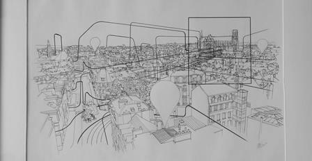 Dessins de la ville de Reims