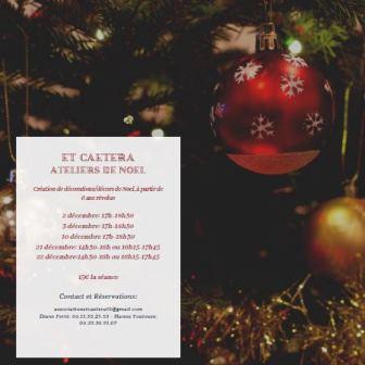 Créations de décorations/décors de Noël