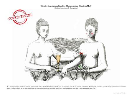 12 dessins pour une inscription : le patrimoine Unesco champenois vu par François Schmidt