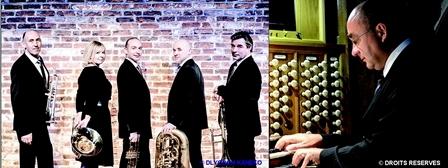 Le Quintette Magnifica et Pierre Méa  quintette de cuivres et orgue