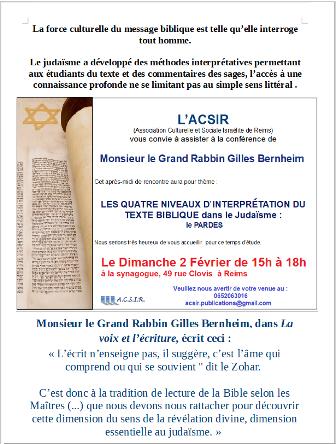 Les quatre niveaux d'interprétation du texte biblique dans le judaïsme : le Pardes