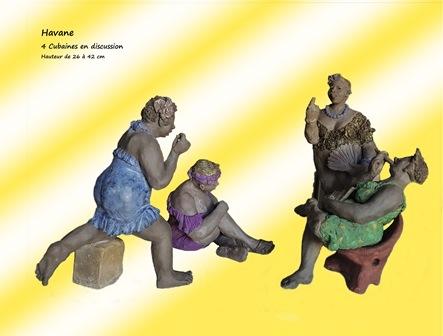 Sculptures de Brigitte De Cesco
