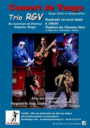 Concert de Tango : Trio RGV : tango d'hier et d'aujourd'hui