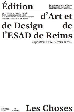 Les Choses, édition d'Art et de Design de l'ESAD de Reims