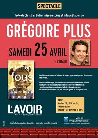 Spectacle - poésie : Grégoire Plus