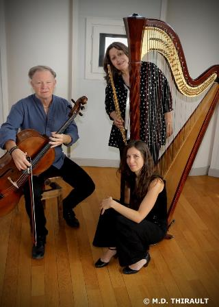 Trio flûte, harpe, violoncelle